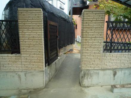 地震対策ブロック塀【やねきハウスのリフォーム】(リフォーム前)