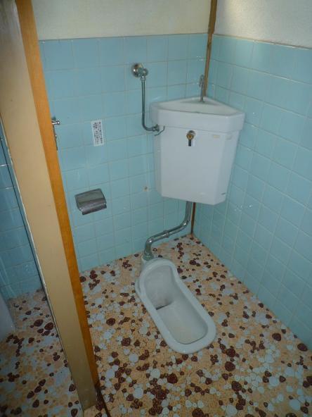 旧蕎麦屋から、イタリアンレストランへ改修(トイレ2)【やねきハウスのリフォーム】(リフォーム前)