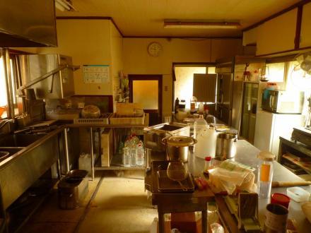 旧蕎麦屋から、イタリアンレストランへ改修(厨房)【やねきハウスのリフォーム】(リフォーム前)