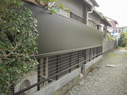 木塀からアルミフェンスヘ【やねきハウスのリフォーム】(リフォーム後)