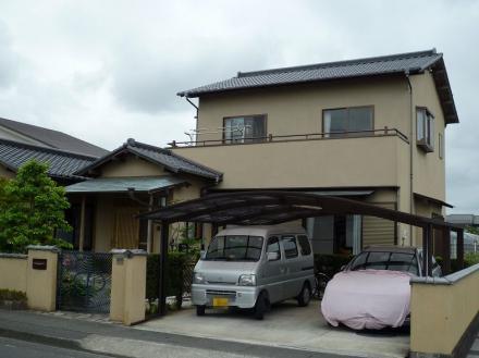 外壁塗装 弾性タイル塗装【やねきハウスのリフォーム】(リフォーム前)