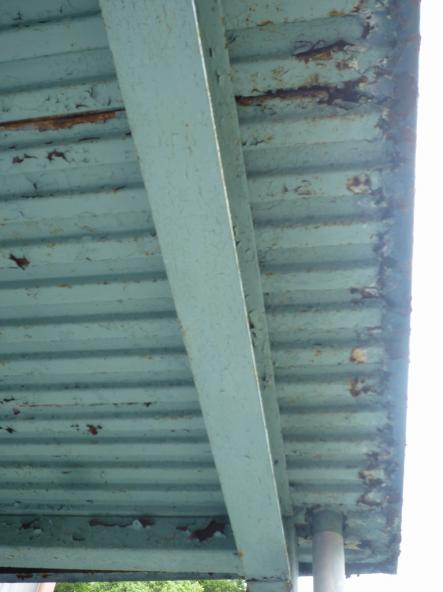 ベランダ塗装 ケレン錆止め油性塗装【やねきハウスのリフォーム】(リフォーム前)