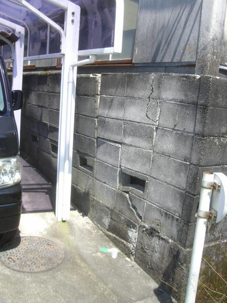 ブロック塀解体【やねきハウスのリフォーム】(リフォーム前)