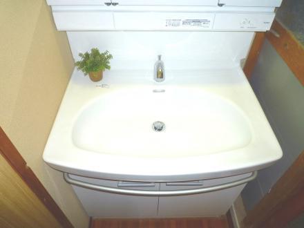 洗面シンプルリフォーム【やねきハウスのリフォーム】(リフォーム後)