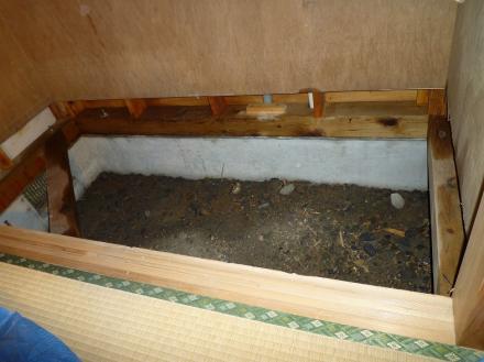 シロアリ防虫駆除及び床下改修【やねきハウスのリフォーム】(リフォーム前)