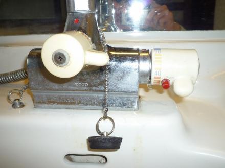 水栓金具の交換 TOTO TMJ30UC3【やねきハウスのリフォーム】(リフォーム前)