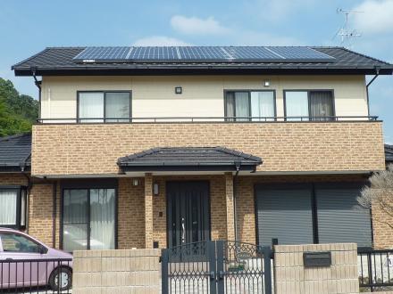 太陽光発電システム設置工事 三菱 (4.14kw)【やねきハウスのリフォーム】(リフォーム後)