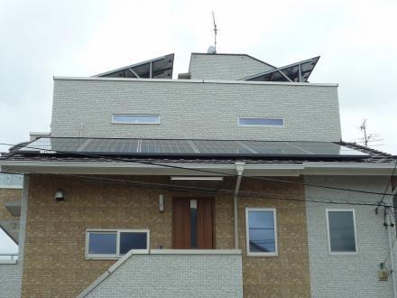太陽光発電システム増設工事 SHARP (3.42kw)【やねきハウスのリフォーム】(リフォーム後)