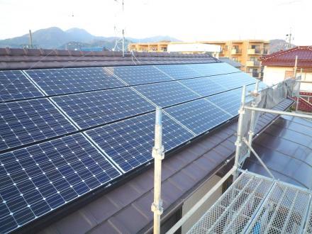 太陽光発電システム設置 パナソニック4.14kw【やねきハウスのリフォーム】(リフォーム後)
