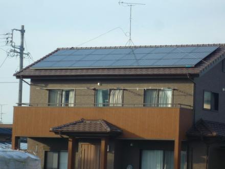 働く屋根 太陽光発電乗せましたダイキン(京セラ製)3.96kw【やねきハウスのリフォーム】(リフォーム後)