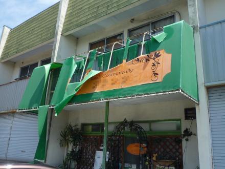 テナント テント屋根張替え工事【やねきハウスのリフォーム】(リフォーム前)