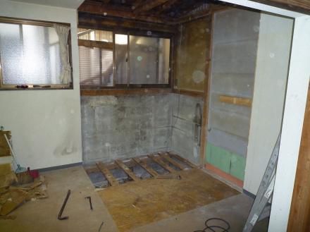 浴室の増設 クリナップ アクリア【やねきハウスのリフォーム】(リフォーム前)