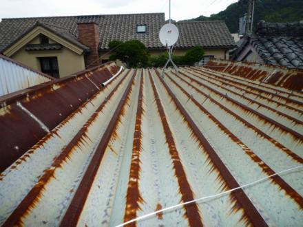 折半屋根塗装工事【やねきハウスのリフォーム】(リフォーム前)